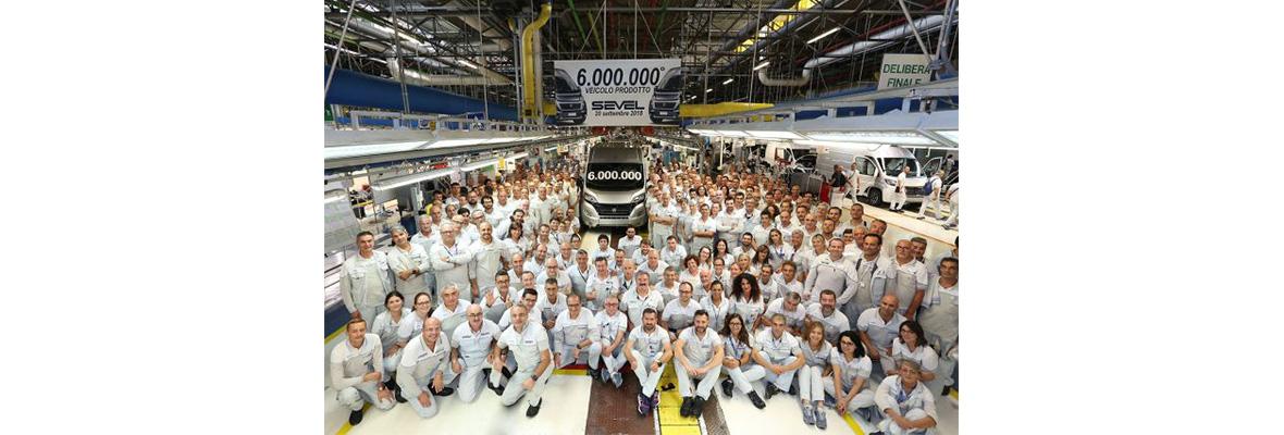 Six million vehicles at Sevel, the Ducato plant